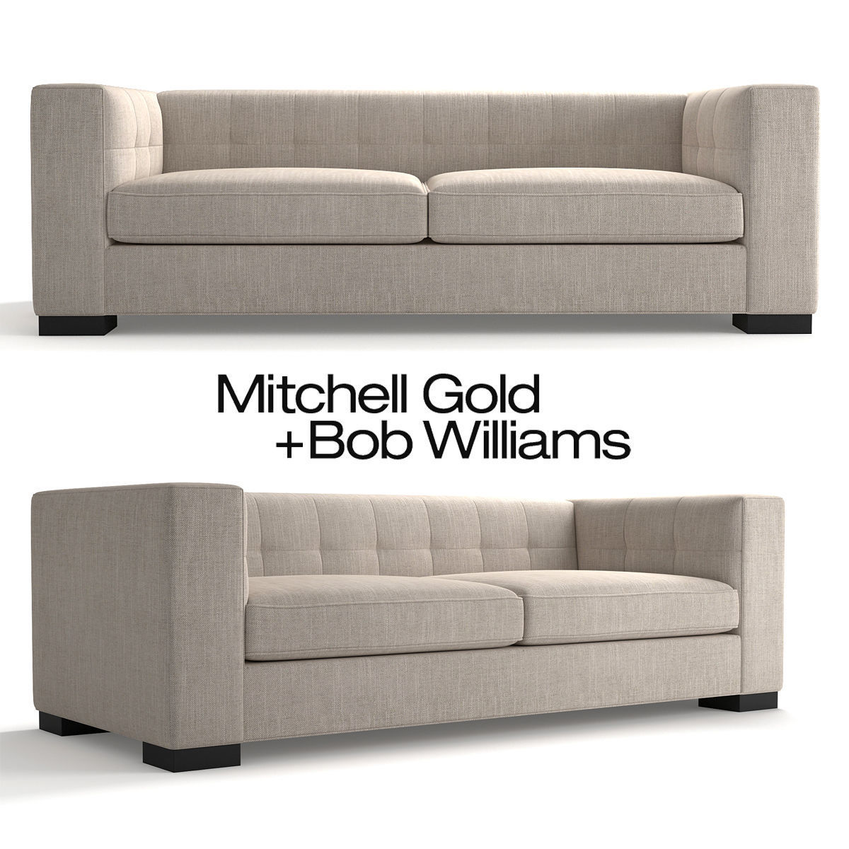 mitchell gold sofa. Mitchell Gold Bronson Sofa 3d Model Max Obj Fbx Mtl Mat 1