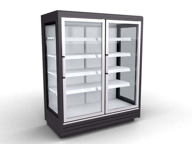 carrier velando frozen food cabinet 3d model max obj mtl 3ds fbx 1