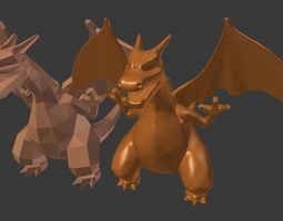 charizard sculpt 3d printable model