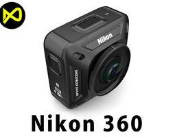 3D Nikon KeyMission 360 Camera
