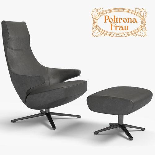 Poltrona frau jay lounge 3d model cgtrader for Poltrona 3d