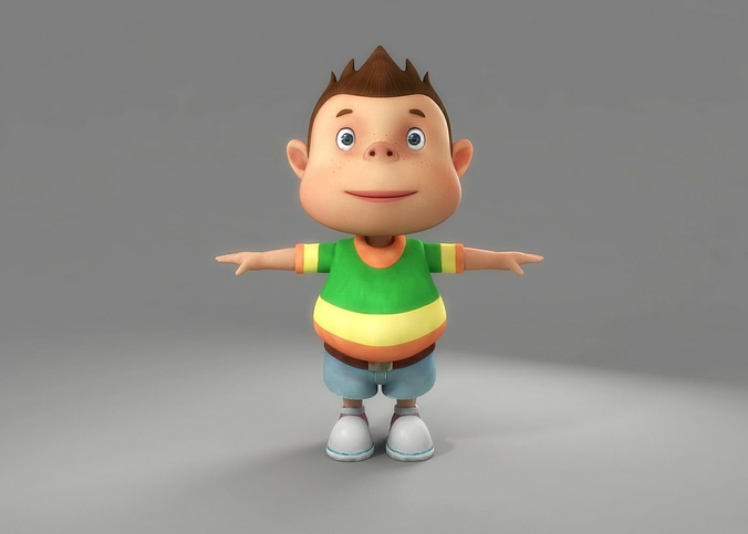 3d cartoon character models for maya free download