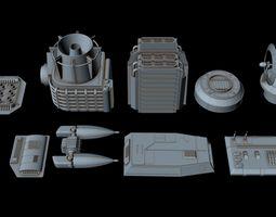 3D Big greeble collection 3 starship