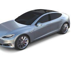 3D Tesla Model S 2016 Silver