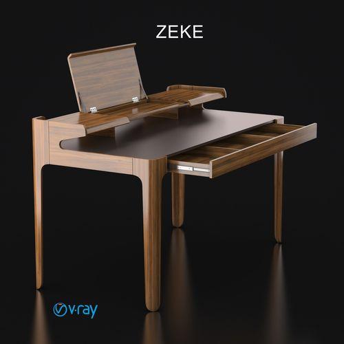 table zeke 3d model max obj mtl 3ds 1
