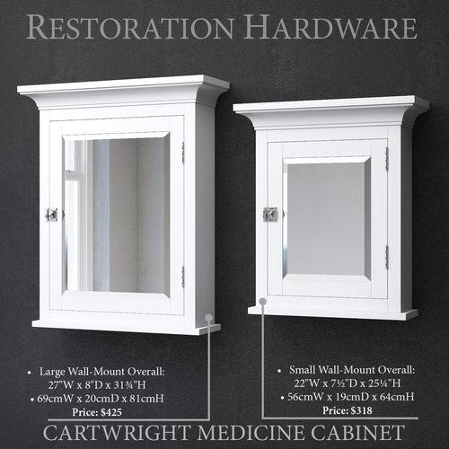 RH CARTWRIGHT MEDICINE CABINET 3D Model
