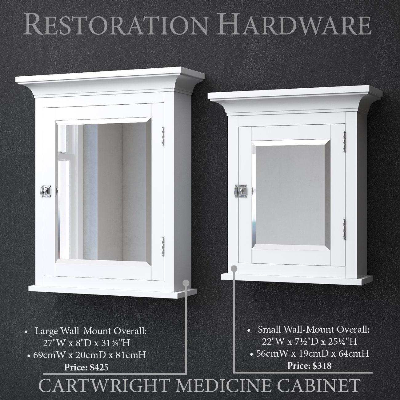 Beau RH CARTWRIGHT MEDICINE CABINET 3D Model