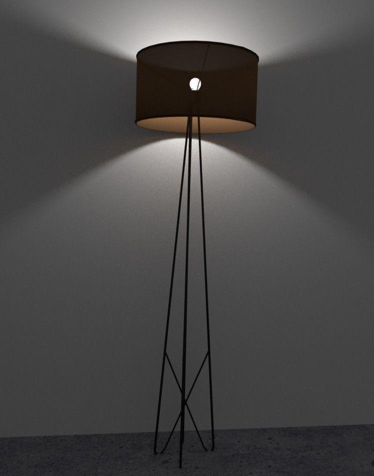 3D asset Wire Floor Lamp   CGTrader