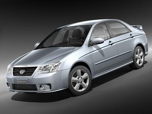 kia spectra 2006-2008 3d model max 3ds 1