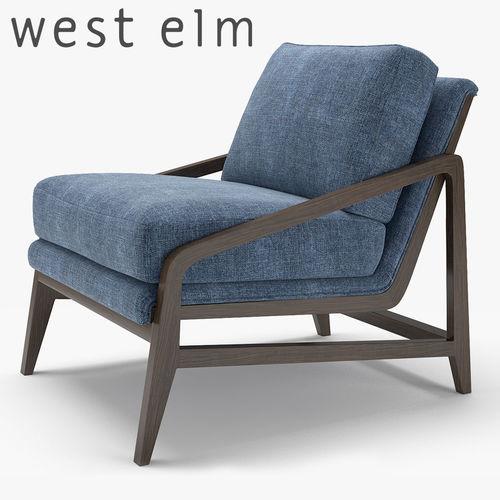 west elm peyton chair  3d model max obj mtl fbx 1