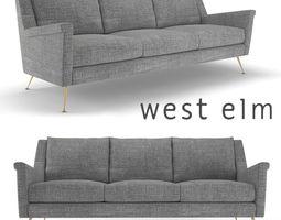 West Elm Carlo Mid-Century Sofa 3D