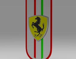 horse car logo 6 3D model