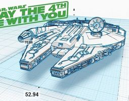 3D printable model Millennium Falcon V1 1