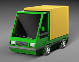 3D model Cartoon electric car