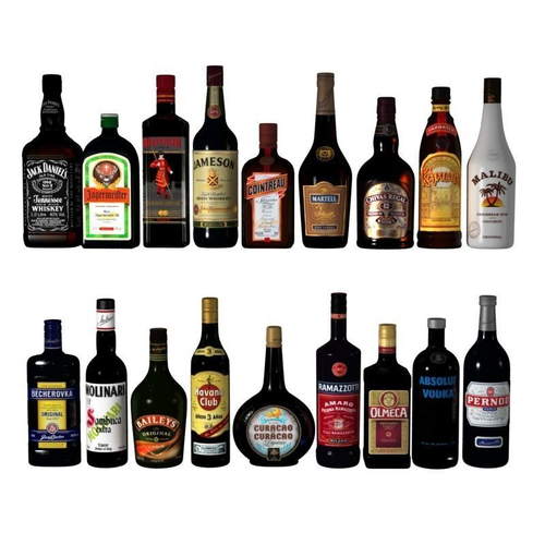 alcohol bottles 3d model max obj mtl 3ds 1