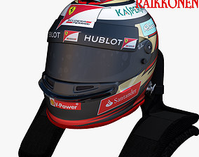 3D asset Raikkonen Helmet 2017