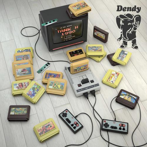 dendy junior 3d model max obj 3ds fbx 1