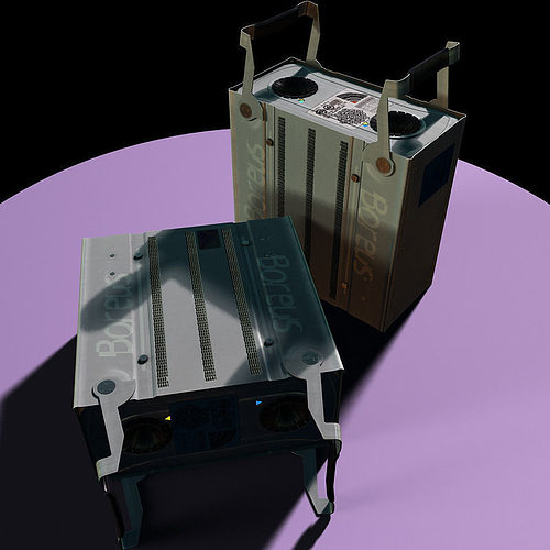 scientific rack harddrive 3d model animated max 1