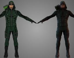 Green Arrow TV Show 3D asset