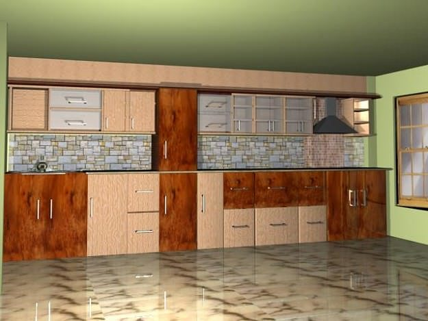 kitchen 3d model max 1