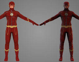 The Flash TV Show 3D model animated