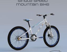 3D model Single Speed Mountain Bike