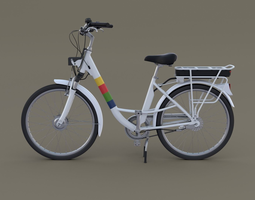 3D model Electric City Bicycle