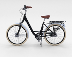City Bicycle Black 3D