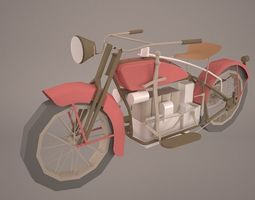 Ace 1924 Motorcycle 3D model