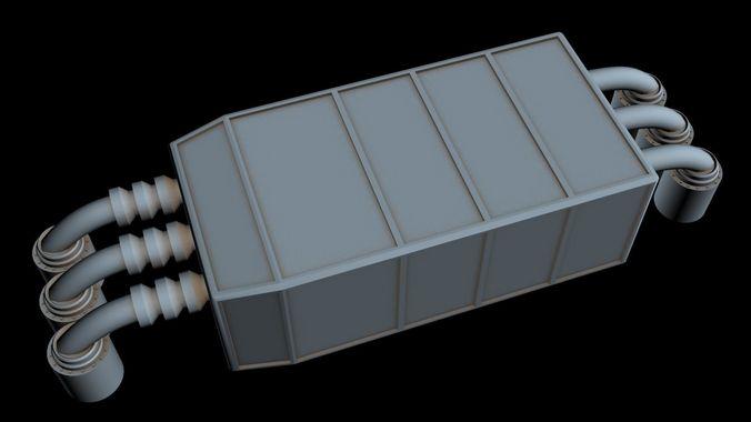 starship part 40  3d model max 3ds 1