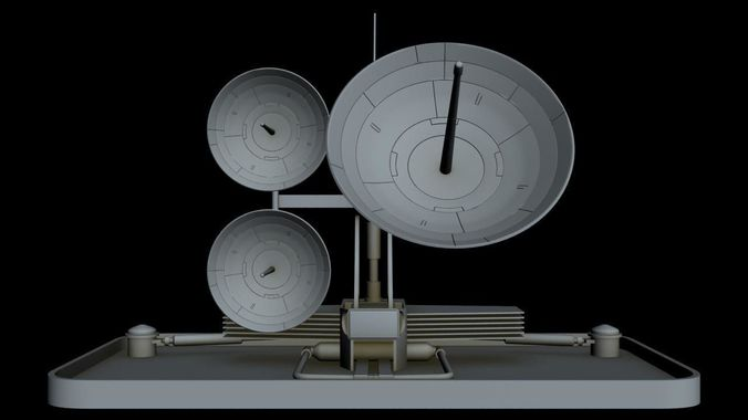 sci-fi radar 9 3d model max 3ds fbx 1