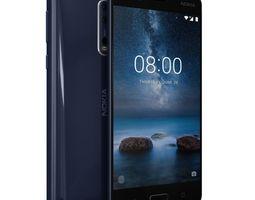 3D model low-poly Nokia 8 Polished Blue