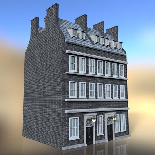 3d model no 10 downing street for daz studio cgtrader. Black Bedroom Furniture Sets. Home Design Ideas