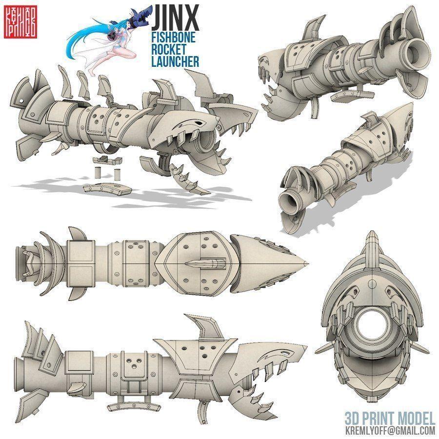 League of legends cosplay Jinx rocket gun | 3D Print Model