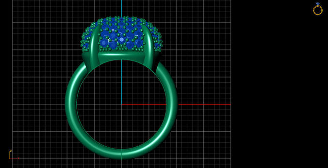 pave setting ring 3d model stl 1