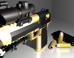 Desert Eagle pack--PBR metal 3D asset realtime