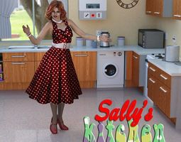 Sallys Kitchen for DAZ Studio 3D