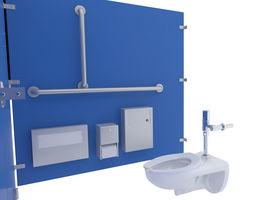 Toilet Stall-002B 3D