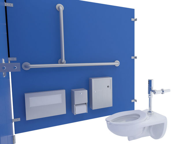 Toilet Stall48B 48D CGTrader New Bathroom Stall Model