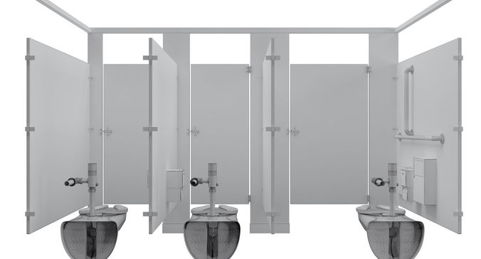 Toilet Stall48B 48D CGTrader Adorable Bathroom Stall Model