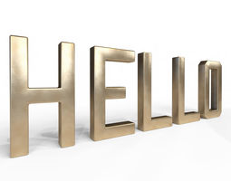 3D Decor Object - Hello Text