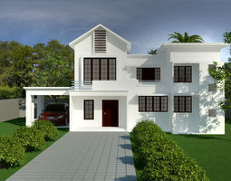 exterior house building 3D model realtime