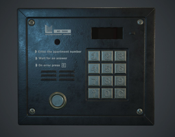 Intercom System PBR Game Ready 3D model