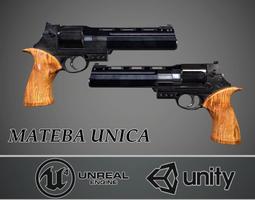 3D asset Mateba Unica revolver