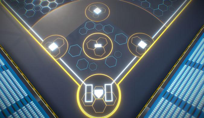 BaseBall Glow Stadium PBR