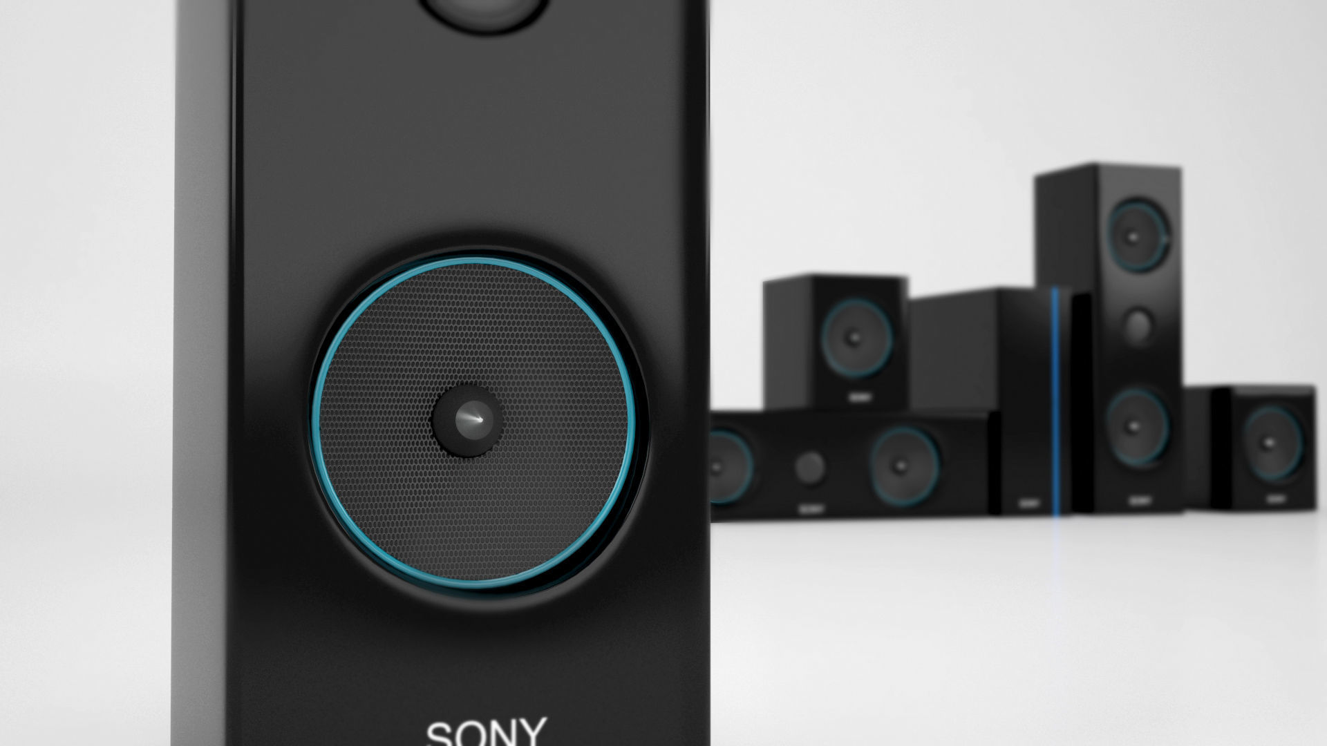 Sony Home Theater 3d Asset Cgtrader