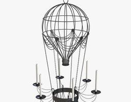3D Hot Air Balloon Chandelier
