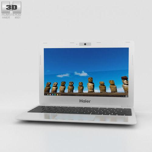 haier chromebook 11 white 3d model max obj 3ds fbx c4d lwo lw lws 1