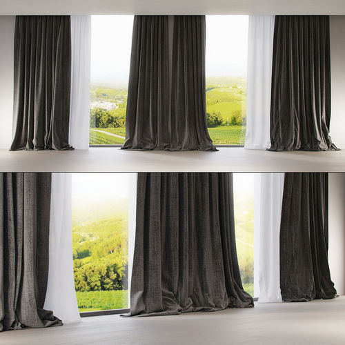 3d window modern curtains cgtrader rh cgtrader com