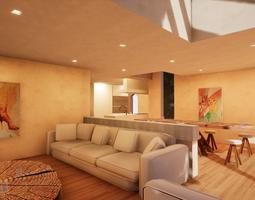 3D asset SHC Spanish Modern House 3